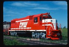 Original Slide TP&W Toledo Peoria & Western Brand New GP38-2 2003 In 1977