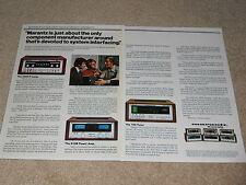 Marantz Ad, 2 pg, 510 M Amp, 3800 Preamp, 150 Tuner, 1975, Articles, Info