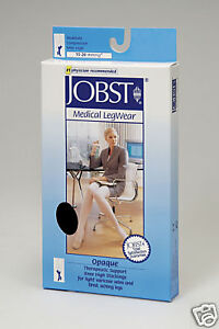 Jobst Opaque Stockings Thigh High OPEN Toe 15 - 20 Compression