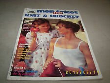Mon Tricot Knit & Crochet Magazine Aug/Sept 1980 MD78 Paris Fashion