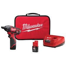 """Milwaukee 2401-22 M12 1/4"""" Hex Screwdriver w/(2) Batteries Kit"""