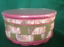 CAMO GEAR Basket Lid  & Divided Protector PINK Longaberger New great for Jewelry