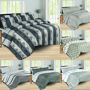 Luxury Duvet Quilt Cover With Fitted Sheet Bedding Set,Single Double King Size