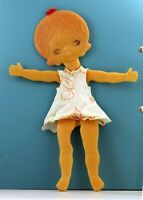 Original! Vintage doll of the USSR (Soviet, Russia), flat shape! Cute baby doll