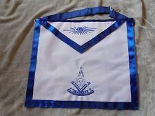 Masonic Past Master Apron White Color Logo Freemason Blue Lodge Fraternity NEW!