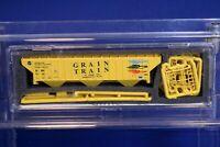Grain Train N Scale 3-Bay Rib-Sided Hopper Car Kit / Intermountain 101X