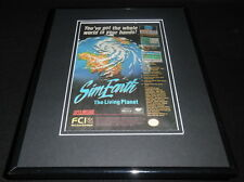 Sim Earth 1993 SNES 11x14 Framed ORIGINAL Vintage Advertisement