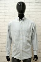 Camicia Uomo HUGO BOSS Taglia Size L Maglia Shirt Man Manica Lunga Cotone Quadri