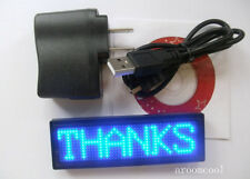 NEW Blue led  Programmable Message moving scrolling LED Name Badge Tag