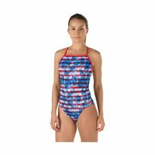 Speedo Champs and Stripes Endurance One Piece Red white & Blue Swimsuit 8 / 34