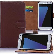 Book Style Handy Tasche HTC One M8 Flip Cover Schutz Hülle Klapp Etui Case Braun