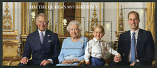 GB 2016 MNH Queen Elizabeth II 90th Bday Prince William 4v M/S Royalty Stamps