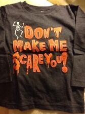 New Toddler Halloween L/S Glow In Dark Shirt size 5