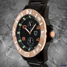 MENS Picard & Cie SS Watch BASILICA New Black IP
