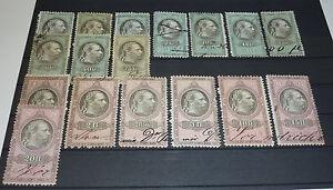 Kaiser Franz Joseph I. von Österreich 17 Steuermarken Fiskalmarken Wertmarken