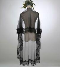Women Lady Bride Wedding 1.5m Trim head hair Black Lace Party Veil Without Comb