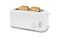 """Elite Cuisine Ect-4829 Long Cool Touch Toaster with Extra Wide 1.5"""" Slots for 4"""