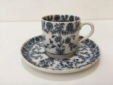 Antique Brooklyn Ovingtons Chicago Porcelain Small Espresso Cup & Saucer Set