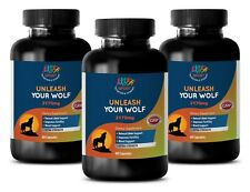 Penis-Enlargement Pills UNLEASH YOUR WOLF MACA TONGKAT ALI GINSENG 3 BOTTLES