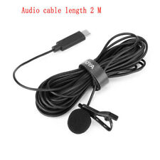 Usb Type-C Wired Mini Clip-On Microphone Lavalier Lapel Mic for Android Samsung