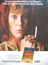 PUBLICITE DE PRESSE CRAVEN EXPORT CIGARETTES BLONDES FRENCH AD 1972