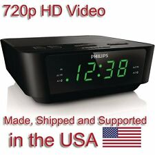 SecureGuard HD 720p Clock Radio Alarm Clock Nanny Cam SPY CAMERA with 16GB CARD