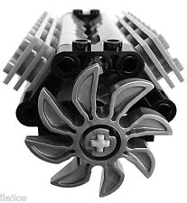 Lego V8 GRAY Engine (technic,piston,cylinder,block,motor,car,shaft,crank,fan)