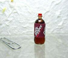 Dollhouse Miniature Plastic D Pepper Soda Bottle