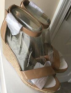 Sam Edelman 7593 Womens Brenda Beige Wedge Sandals Shoes 8.5 Medium (B,M)