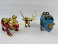 Power Rangers Wild Force Red Lion, Rhino & Eagle Zord Megazord Parts Bandai USED