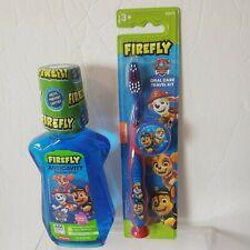 Paw Patrol 8 oz Firefly Anticavity Fluoride Rinse Bubble Gum Toothbrush Kit