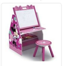 Minnie Mouse Deluxe Kids Art Table Easel Desk Stool & Toy Box Organizer