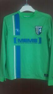 Gillingham FC Football Goalie Green Goalkeeper Shirt World Post! Kids Size YL