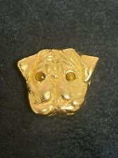 New listing Estate 14 Karat Yellow Gold Pug Slide Charm