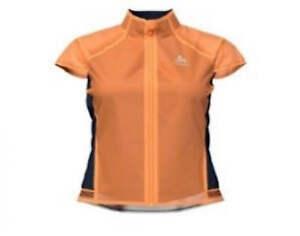 Odlo Ladies Cycling Vest Zerowight Dual Dry Papaya 50054 SIZE S Water Resistant