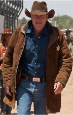 Longmire Walt Mysteries Robert Sheriff Brown Suede Leather Jacket All Sizes