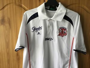 Sydney Roosters Small White Polo Shirt Size Small NRL White Polo Top