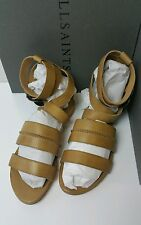 BNWB AllSaints Dace Sandals.leather.gladiator.tan. UK 7/40. £128