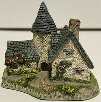 """Lot of 2 David Winter Cottages """"The Schoolhouse"""" and """"The Vicarage"""" Vintage 1985"""