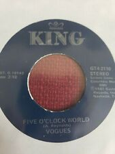 Vogues 45 You're the One / Five O'Clock World rock jukebox MINT NEW unplayed