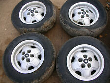 JAGUAR XJS V12 SET OF 5 ALLOY WHEELS WITHOUT TYRES IN USABLE CONDITION