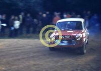 Photo Terry Kaby 8 Port Mini Cooper S  Moss Tyres ? Rally Circa 1974