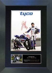 GUY MARTIN Signed Mounted Reproduction Autograph Photo Print A4 307