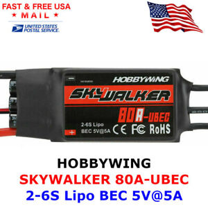Hobbywing Skywalker 80A UBEC 2-6S ESC Electric Speed Controller for RC Airplane