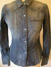CALVIN KLEIN JEANS CKJ Ladies Vintage Denim Shirt Blouse Top Small New FREE P&P