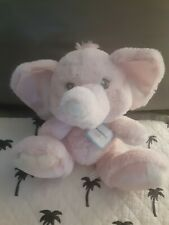 Nwt Aurora Baby Lovey Security Plush Pink Elephant White Satin Girls