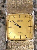 Vintage Rare Exquisite Sekonda Ladies Watch Braided Stainless Steel Bracelet