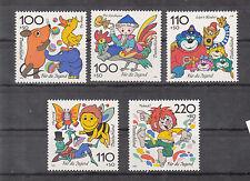 463 ) Germany 1998 of 5 beautiful Stamps Cartoons Captain Blue Bear, Bee Maja