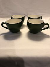 4 Little Green Teacups Made In Italy