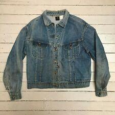 Vintage 1960s LEE 101-J Distressed Denim Jean Jacket MED LG